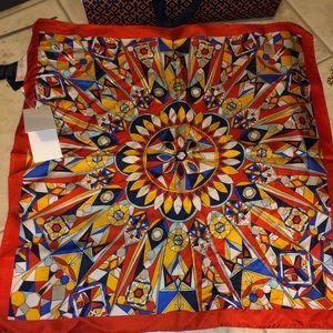 Tory Burch multi-kaleidoscope neckerchief NWT's